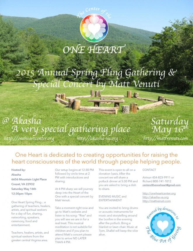 2015 Annual Spring Fling Gathering & Special Concert by Matt Venuti