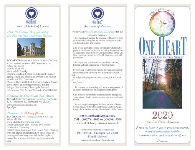 One Heart 2020 Brochure